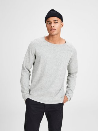Bluza gri deschis  melanj - Jack & Jones Union