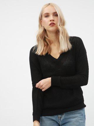 Čierny priesvitný sveter VERO MODA AWARE Castiel