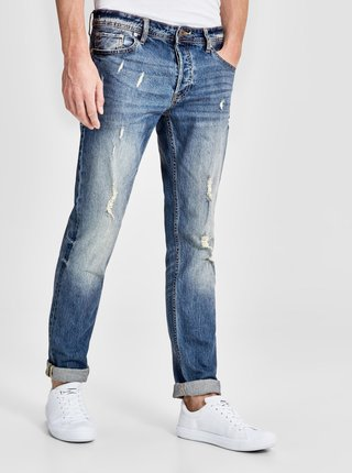 Blugi bleumarin slim fit Jack & Jones Tim