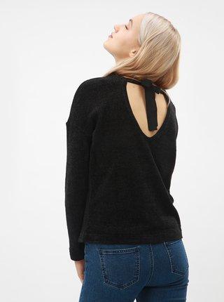 Pulover negru lejer cu funda in spatele gatului ONLY Star