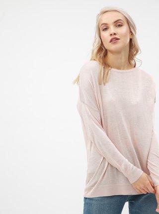Starorůžový lehký svetr s dlouhým rukávem VERO MODA