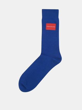 Modré pánske ponožky Calvin Klein Jeans