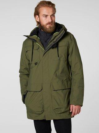 Khaki pánská zimní voděodolná bunda HELLY HANSEN