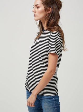 Černo-krémové pruhované basic tričko Selected Femme My Perfect