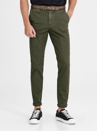 Pantaloni verzi chino Jack & Jones Cody