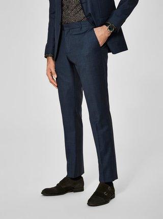 Pantaloni bleumarin de costum din lana Selected Homme Done