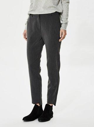 Tmavosivé spoločenské nohavice Selected Femme Amila