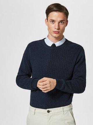 Tmavomodrý sveter Selected Homme Clayton