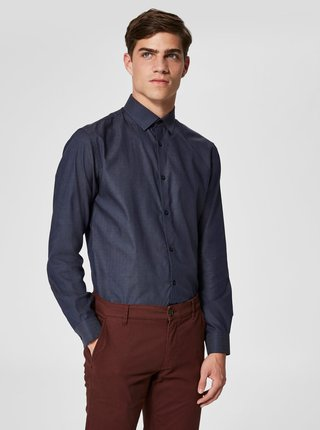 Camasa albastru inchis formala slim fit Selected Homme Preston
