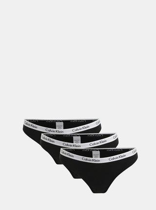 Set de 3 chiloti negri Calvin Klein Underwear