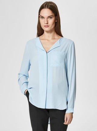 Camasa bleu cu nasturi Selected Femme Dynella