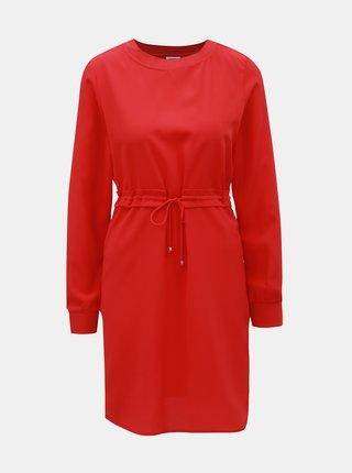 Červené šaty so sťahovaním v páse Noisy May Monty