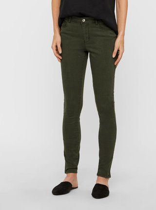 Kaki slim fit rifle VERO MODA