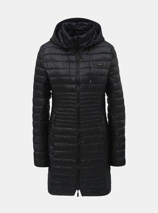 Čierny dámsky prešívaný nepremokavý kabát s odnímateľnou kapucňou LOAP Jomana
