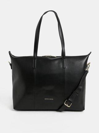 Geanta neagra din piele pentru laptop Smith & Canova