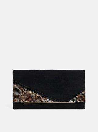 Čierna listová kabelka v semišovej úprave s hadím vzorom Dorothy Perkins