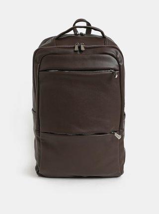 Tmavě hnědý batoh na notebook Bobby Black