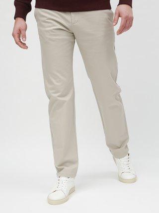 Krémové slim nohavice Selected Homme Carlo