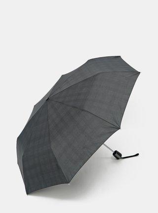 Tmavě šedý skládací deštník Doppler