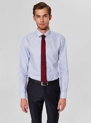Světle modrá pruhovaná slim fit košile Selected Homme Mark