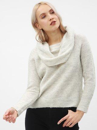 Světle šedý volný svetr s příměsí vlny ONLY Bergen