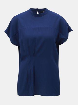 Bluza albastru inchis cu pliuri in talie VERO MODA Jaylo