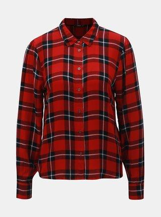 Čierno–červená károvaná košeľa ONLY