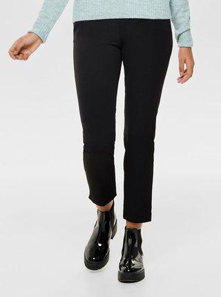 Pantaloni negri pana la glezne cu banda elastica in talie ONLY