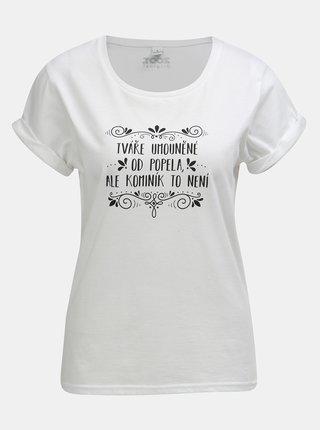 Bílé dámské tričko s potiskem ZOOT Original Popelka