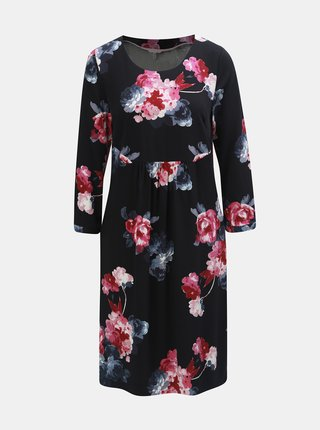 Rochie roz-negru florala de dama cu maneci 3/4 Tom Joule