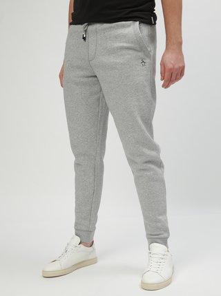 Pantaloni sport gri deschis melanj slim fit Original Penguin