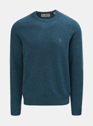 Modrý vlnený sveter Original Penguin