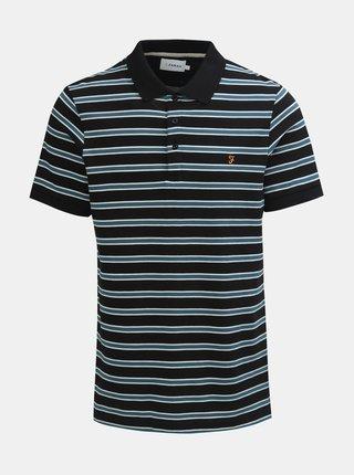 Modro-černé pruhované polo tričko Farah Marcel