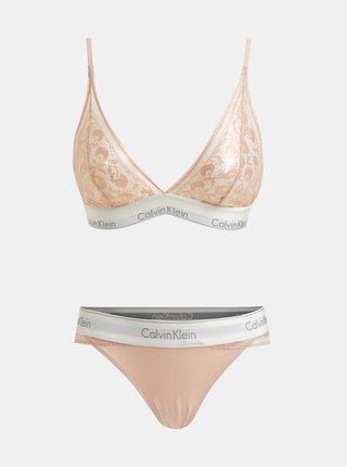 Set de bustiera si chiloti roz deschis Calvin Klein Underwear