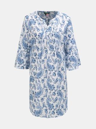 Modro–biela kvetovaná nočná košeľa Lauren Ralph Lauren