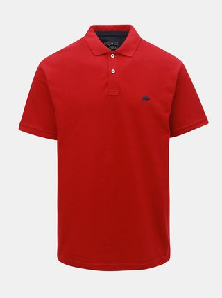 Červené polo tričko s krátkým rukávem Raging Bull