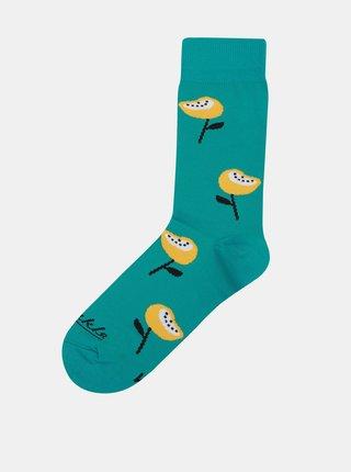 Tyrkysové ponožky Fusakle Mak horský