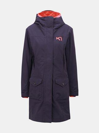 b8050fc692 Fialový kabát s vnútorným tenkým odnímateľným kabátom Kari Traa Dalane