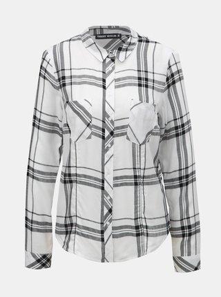 Čierno–biela kockovaná košeľa s náprsnými vreckami TALLY WEiJL