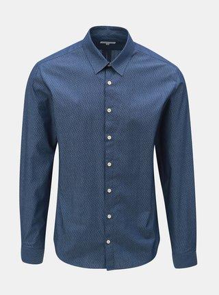 Modrá vzorovaná košeľa s dlhým rukávom Lindbergh