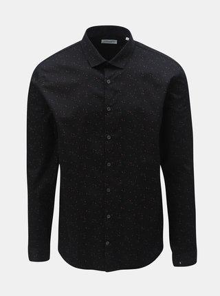Černá vzorovaná košile s dlouhým rukávem Lindbergh