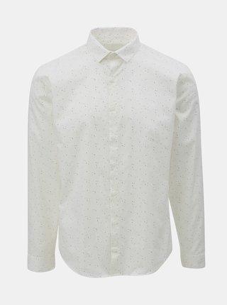 Biela vzorovaná košeľa s dlhým rukávom Lindbergh