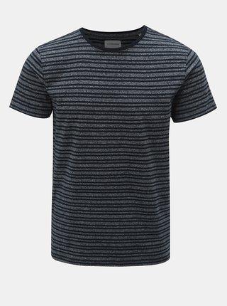 Tmavě modré pruhované tričko s krátkým rukávem Lindbergh
