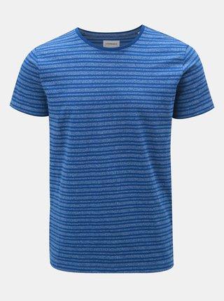 Modré pruhované tričko s krátkým rukávem Lindbergh