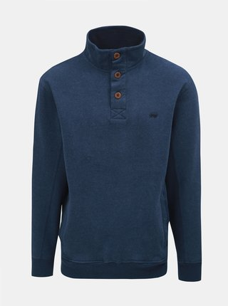 Bluza sport albastru inchis cu guler inalt Raging Bull