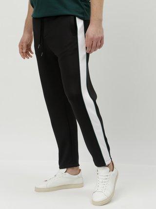 Pantaloni sport negri cu dungi laterale Shine Original Track