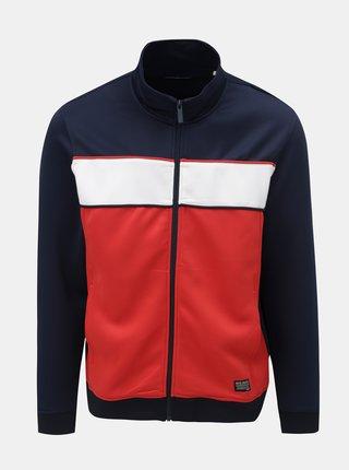 Bluza sport albastru-rosu cu dunga Shine Original Track