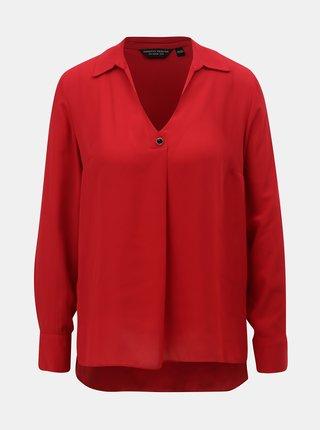 Bluza rosie cu guler ascutit Dorothy Perkins