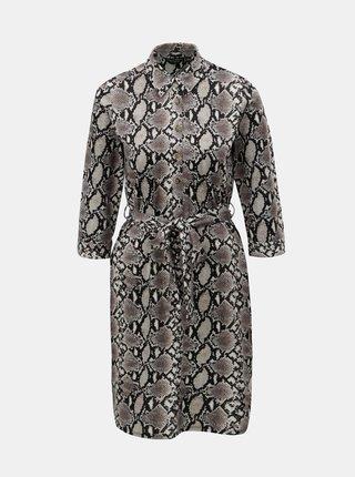 Krémové košeľové šaty s hadím vzorom Dorothy Perkins
