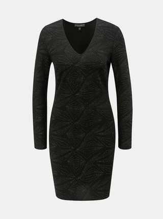 Rochie neagra cu fibre metalice Dorothy Perkins